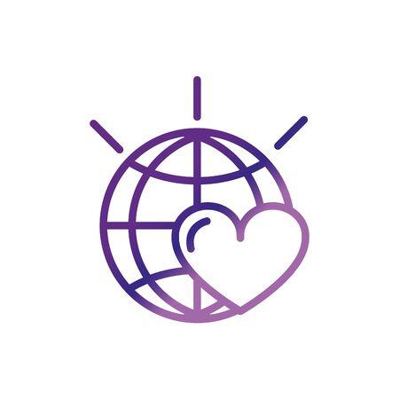 world love heart campaign charity help donation Stock Illustratie