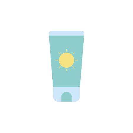 Isolated sun cream icon flat design