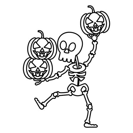 Cukierek albo psikus - styl linii happy halloween