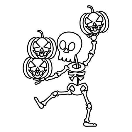truco o trato - estilo de línea feliz halloween