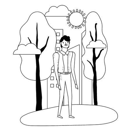 Isolated avatar man vector design