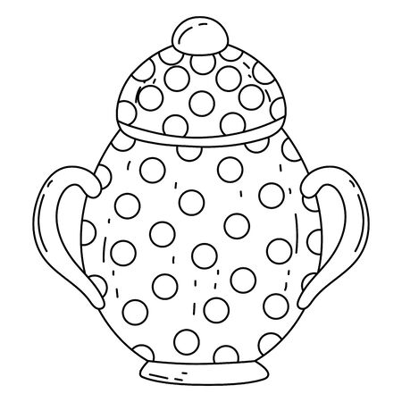 Isolated sugar bowl design vector illustration Vettoriali