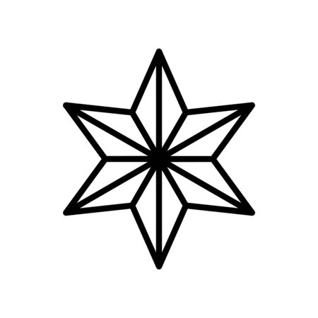 star six pointed line style icon