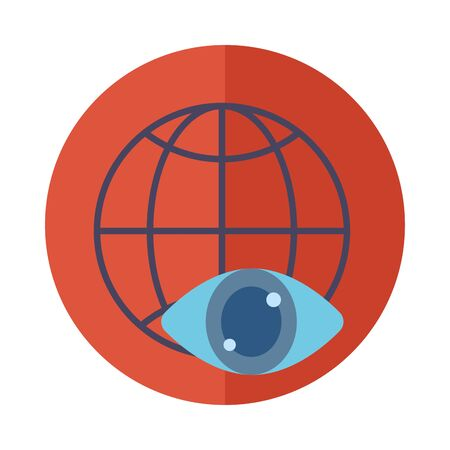 Global sphere icon block vector design Illustration