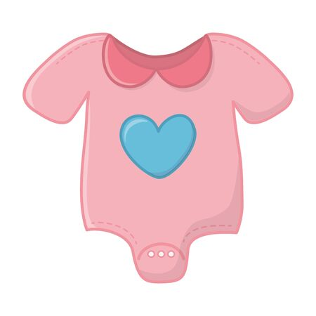 pink baby clothes vector illustration
