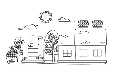 Isolated house and solar panel design