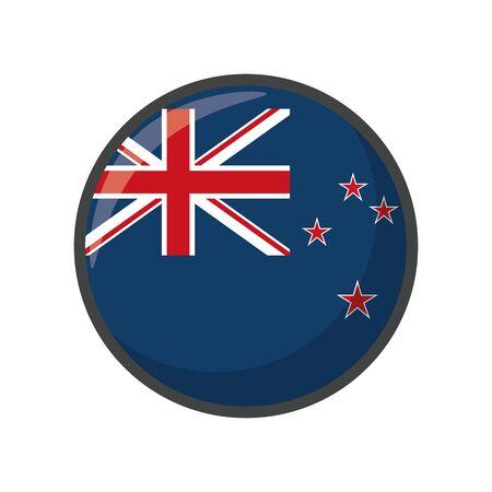 Isolated New Zealand flag icon block design