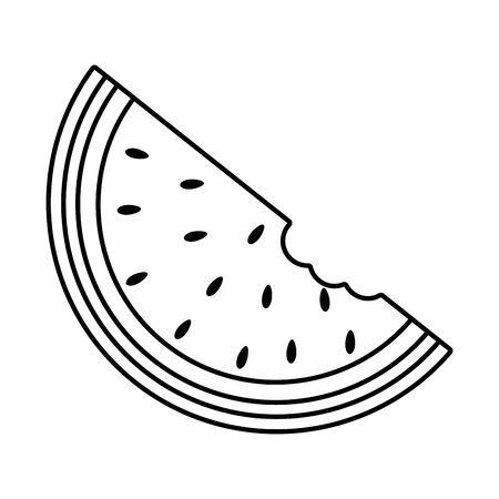 Slice of watermelon design vector illustration