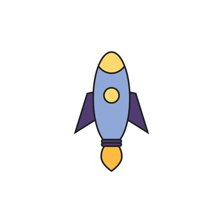 toy startup rocket fill style icon