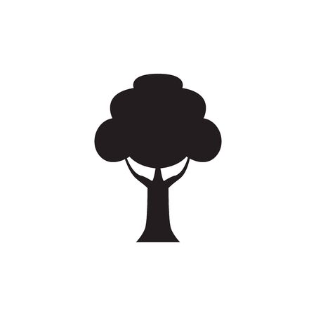 leafy tree natural silhouette style vector illustration design 일러스트