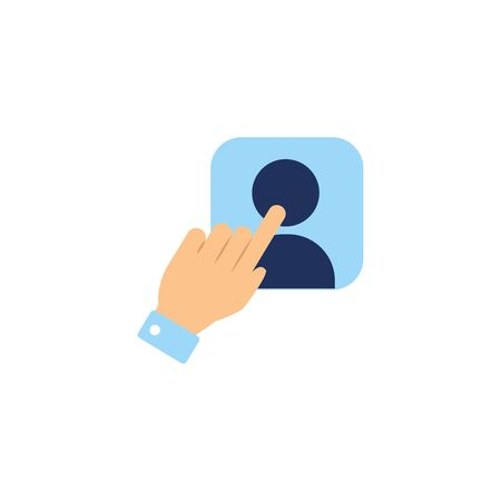 vote hand accept flat style icon