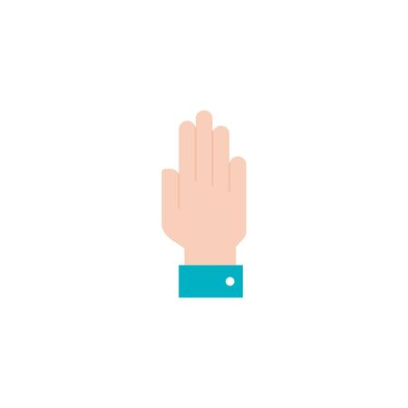 hand person flat style icon