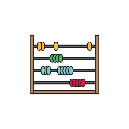 toy abacus fill style icon