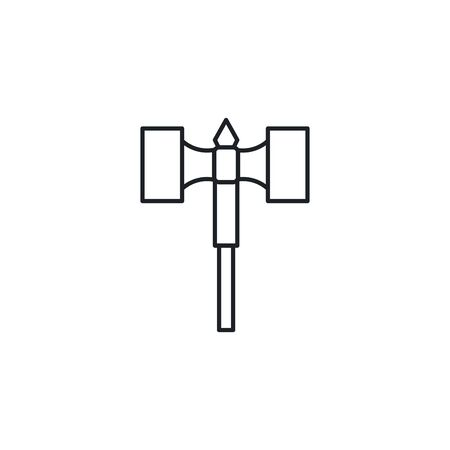 medieval hammer flat style icon