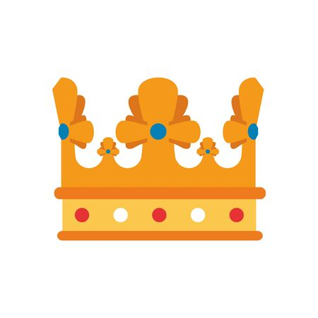 medieval queen crown flat style icon
