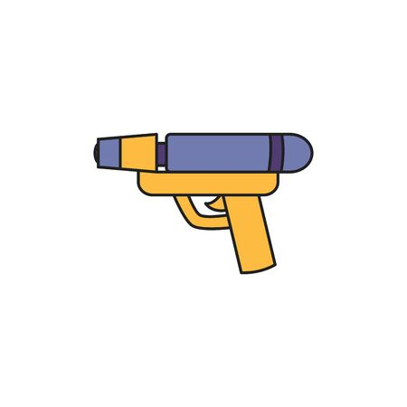 toy water gun fill style icon