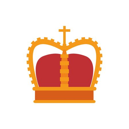 medieval king crown flat style icon Vetores