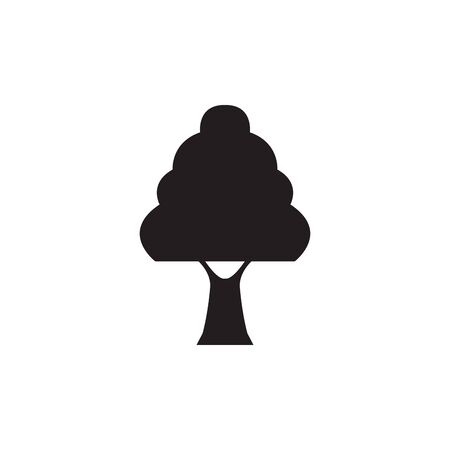 pine tree plant silhouette style 일러스트
