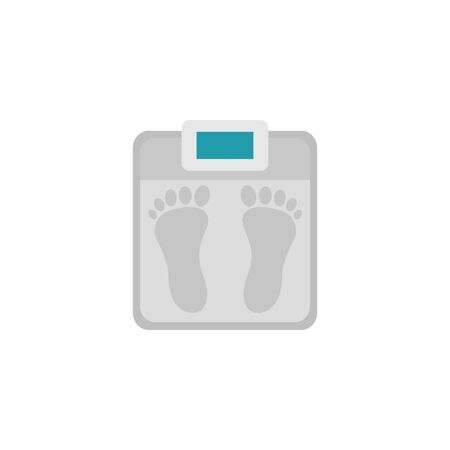 scale workout accessory flat icon