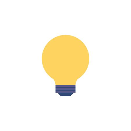 light bulb flat style icon