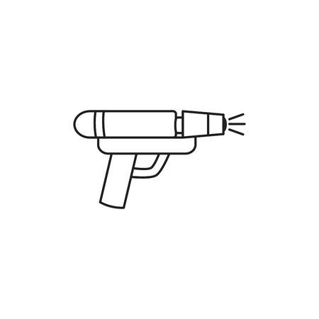 toy water gun line style icon Standard-Bild - 134376806