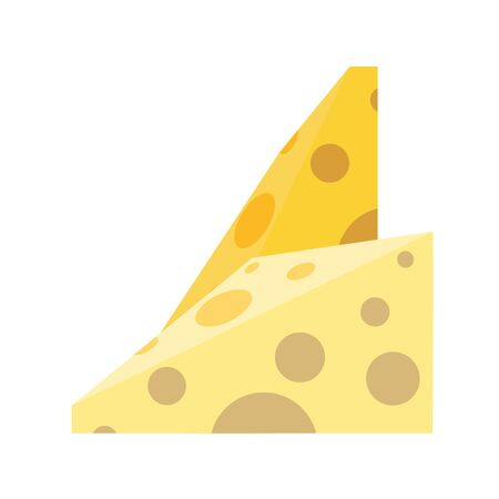 slices cheese flat style icon