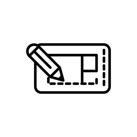 blueprint pencil design architecture icon line style Ilustracja