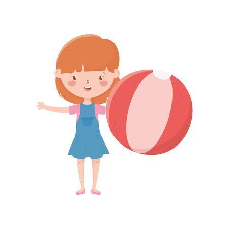 Isolated girl cartoon vector design