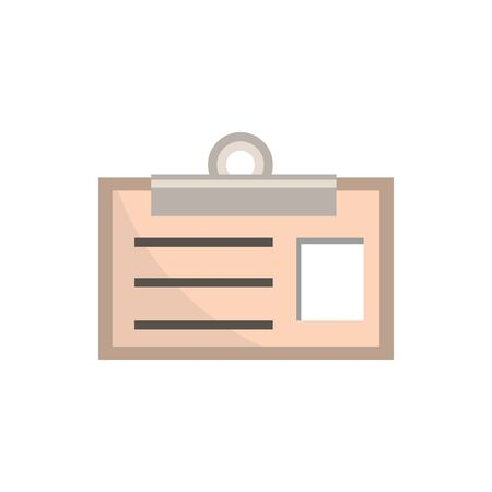 id card clip office work business equipment icon Illustration