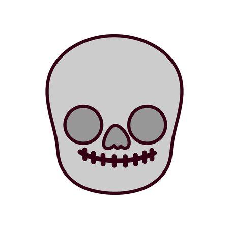 Isolated mexican skull head design Ilustrace