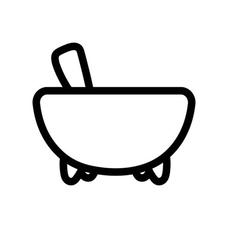 Isolated kitchen bowl vector design