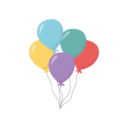 Isolated balloons icon vector design