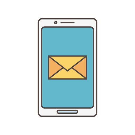 smartphone email app social media icon Illustration