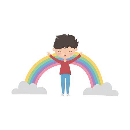 Isolated boy cartoon vector design