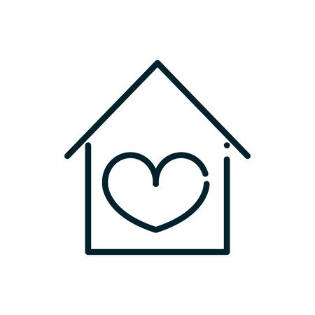 house love heart peace and human rights line Illustration