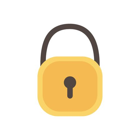 Isolated padlock icon vector design Foto de archivo - 134447791