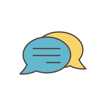 talk bubble chat message social media icon Illustration