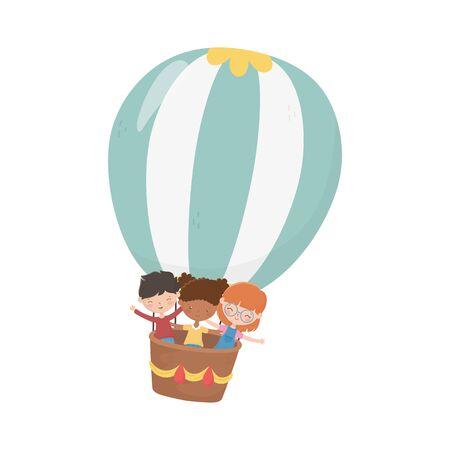 Girls and boy cartoon vector design