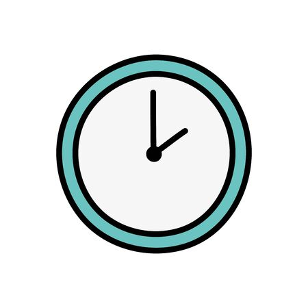 Isolated clock icon design