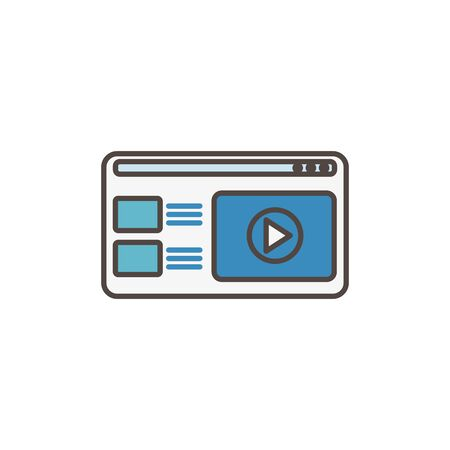 website video player social media icon