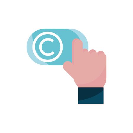 click hand button property intellectual copyright icon Stock fotó - 134430106