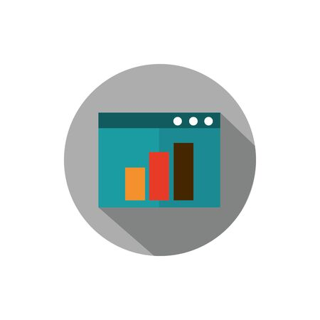 website report chart business strategy icon block shadow Standard-Bild - 134431060