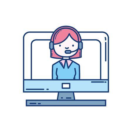 Woman with headphone design Ilustração