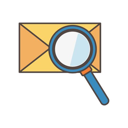email message analysis social media icon Illustration