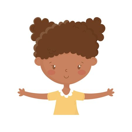 Isolated girl cartoon design