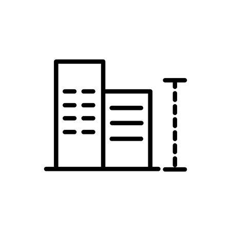 buildings contruction measure architecture icon line style
