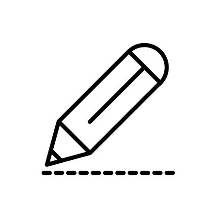 pencil drawing architecture icon line style