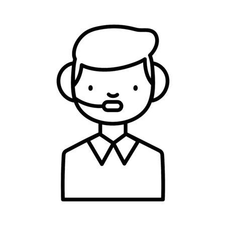 Man with headphone design