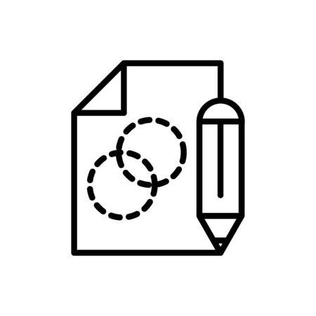 pencil drafting and projecting plan architecture icon line style