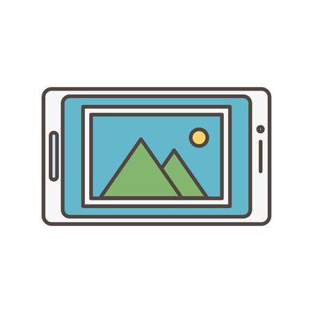 smartphone picture album social media icon